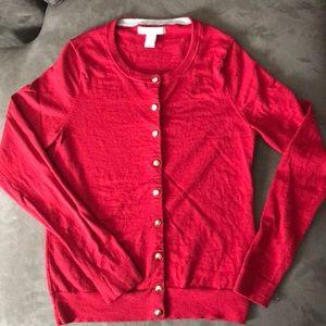Banana Republic Red Wool Sweater